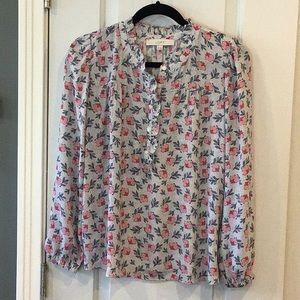 LOFT Spring flower print blouse